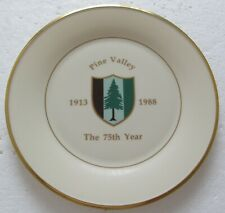 LARGE LENOX CERAMIC PLATE-PINE VALLEY GOLF CLUB 1913-1988  THE 75TH YEAR LIMITED