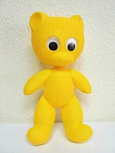 Vintage USSR Plastic BEAR Doll Yellow Toy. Rare!!!