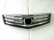 JDM Style Polished Chrome Front Upper Bumper Hood Grille For 09 -10 Acura TSX