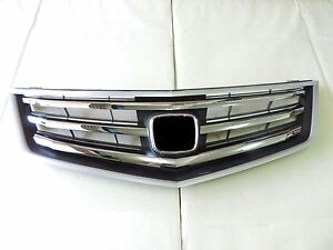 2009 -10 Honda ACURA TSX OE Style Polished Chrome Front Upper Bumper Hood Grille