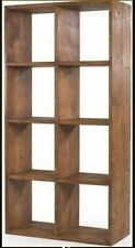 """any size made"" CHUNKY STYLE SOLID WOODEN CUBE BOOKCASE SHELF RUSTIC PLANK PINE"