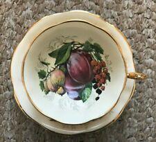Vintage Gold Rosina Tea Cup and Saucer - Fruit Tea Cup
