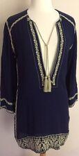 NWT Isabel Marant Etoile SZ 40/US 8 Blue Embroidered Tunic Top Dress