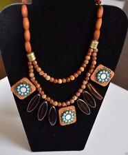 Vivi / Cookie Lee Wanderlust Wood Necklace  NWT