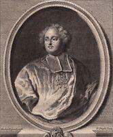 Portrait XVIIIe Armand-Gaston De Rohan Cardinal Rohan Prince Eveque Strasbourg