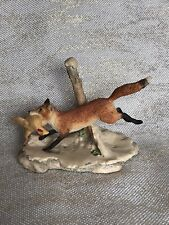 Handcrafted Border Fine Arts Fox Figurine by Artist Lowell Davis 1982 Schmid