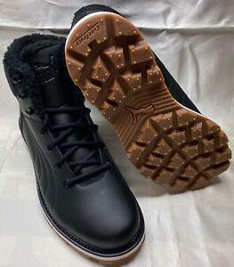 Puma Schuhe Schnürer Boots Stiefel Sneaker Desierto FUN L Leder Unisex schwarz
