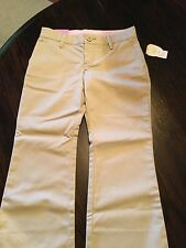 New GAP Kids Girls Beige Classic Chino Khakis Uniform Pants Size 5 Regular NWT