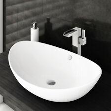 59cm Large Oval Counter top Basin Bowl Ceramic Modern Sink Overflow