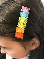 Super Cute Gummy Bears Rainbow HairclipParty Kei Silicone Bears Decora Fairy KeiHarajuku Lovers90s Girl Sweet Candy Hair accessories
