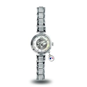 NEW! TORONTO BLUE JAYS WOMEN'S CHARM WATCH MOTHER OF PEARL LICENSED