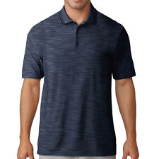adidas Golf 2018 Ultimate 365 Textured Stripe Polo Shirt Mens Top Navy M