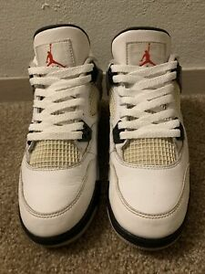 Rare 2016 Nike Air Jordan 4 IV OG White Cement Sz 7 Youth Bred 1 SB Max XI