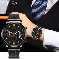 Luxus Herren Business Uhren Quarzuhr Edelstahl Zifferblatt Armband uhr