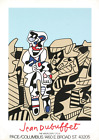 JEAN DUBUFFET Inspection of the Territory 33.5 x 23.5 Serigraph 1974 Outsider Ar