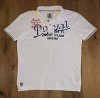 Gaastra Herren Poloshirt T-Shirts Kurz Weiß M, Figurbetont, 100%Baumwolle