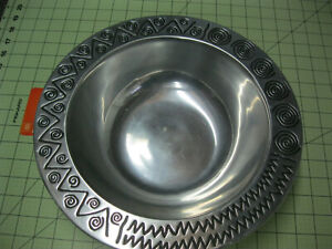Wilton RWP Armetale 12 1/2 inch Reggae large round serving or salad bowl