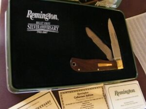 2007 Remington 25th Silver Anniversary Bullet Knife in Tin Box New w/papers