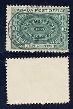 Canada 1898 10c Special Delivery Stamp #E1 Used CV $11 FREE Ship after 1st Lot