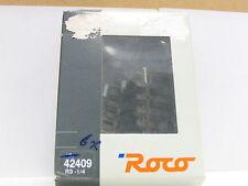 Roco H0 42409 / 6er Paket / gebogenes Gleis R3 1/4 r= 419,6 mm 7,5 ° OVP (y6321)