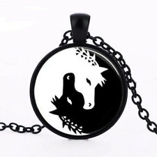HORSE & WESTERN JEWELLERY JEWELRY LADIES WOMENS YIN YANG HORSES NECKLACE