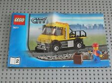 Notice Building instruction booklet N°2 LEGO CITY TRAIN set 3677 Red Cargo Train