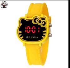 Reloj digital Hello Kitty amarillo + regalo pendientes