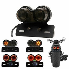 Motorcycle LED Turn Signal Lamp Tail Lights Brake Stop Indicator Light Amber
