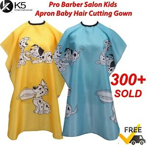 Pro Barber Salon Kids Apron Baby Hair Cutting Hairdressing Hair Cape Cloth Gown
