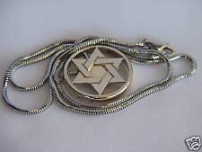 Kabbalah 5 Metal charm Star of David White GOLD 14k