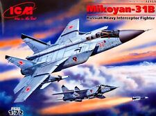 MiG 31 B FOXHOUND (RUSSIAN AF MKGS, REVISED MOULDS) 1/72 ICM RARE! BEST EVER!