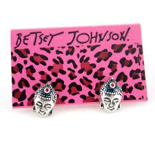 Head Stud earrings Betsey Johnson Silver-tone Buddha