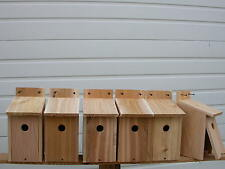 6  WREN BIRD HOUSES  NEST..RED CEDAR..HOLE SIZE 1 1/8.... fully assembled