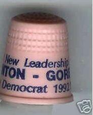 CLINTON + GORE campaign THIMBLE 1992