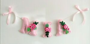 Floral personalised girl name banner girl name bunting flower £2.50 PER LETTER