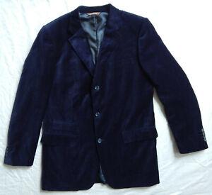 Blue Velvet Smoking Jacket Suit Coat - 42L Medium Long Lounge Mens 42