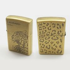 Zippo Lighter LEOPARD SAFARI GOLD Matte Antique Classic Windproof Genuine USA
