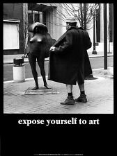 EXPOSE YOURSELF TO ART PRINT BY MIKE RYERSON funny humor New York statue poster