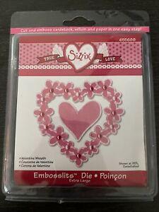NEW Sizzix Embosslits, Valentine Wreath