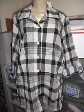 NEW Fashion Bug Plaid Cotton Long Sleeve Casual Shirt Blouse PLUS Sz 22 / 24 3X