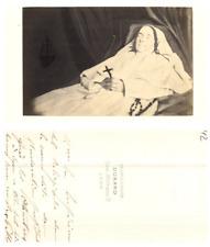 Durand, Lyon, Post mortem, Religieuse CDV vintage albumen carte de visite  Tir