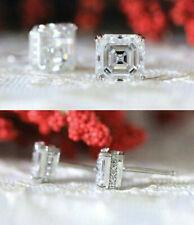 Women's Stud Earrings Engagement Wedding Earrings 3.55 Ct Diamond 14k White Gold