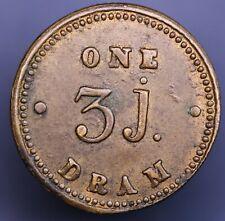 3J Apothecary Weight, 1847 Victorian crown, 1 Dram, 18mm Brass *[14881]