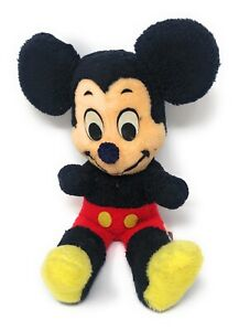 Vintage California Stuffed Toys Mickey Mouse, 1970's.  Original Condition