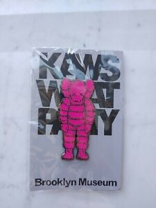 KAWS WHAT PARTY CHUM PINK BK MUSEUM GRAFF ART COLLECTIBLE ENAMEL PIN *NEW SEALED