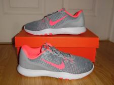 New Nike Flex Trainer 7 Women's Running Shoes Sz 8 Grey Pink Stealth 898479 006
