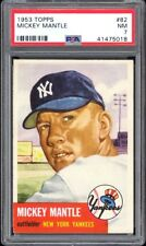 1953 Topps #82 Mickey Mantle PSA 7+ Sharp Corners & Perfect Color
