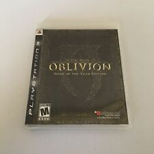 Elder Scrolls IV Oblivion Game of the Year Edition Complete PS3 - Manual & Map