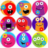 144 Monster Flowers 30mm Kid's Reward Stickers for Teacher, Parent