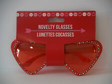 VALENTINES DAY SUN GLASSES HEART SHAPED TRIMMED SUN GLASSES